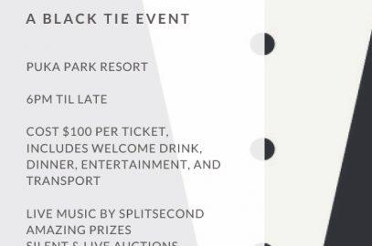 Hikuai School Ball Fundraiser at the Grand Mercure Puka Park Resort